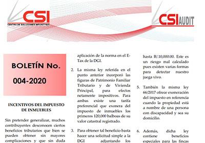 Boletín N° 004-2020