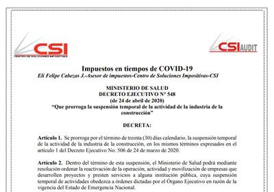 Decreto Ejecutivo N°548