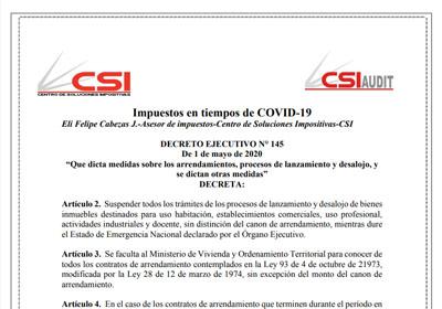 Decreto ejecutivo N°145